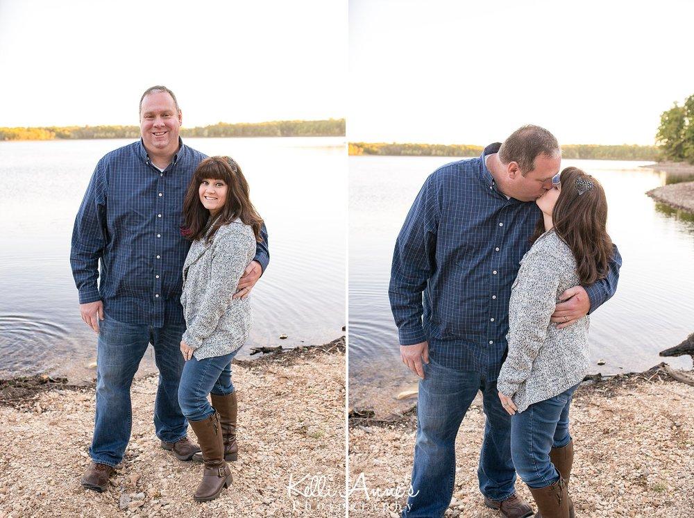 Mom, Dad, Kissing, Lake, Fellows Lake, Springfield mo, Rocks