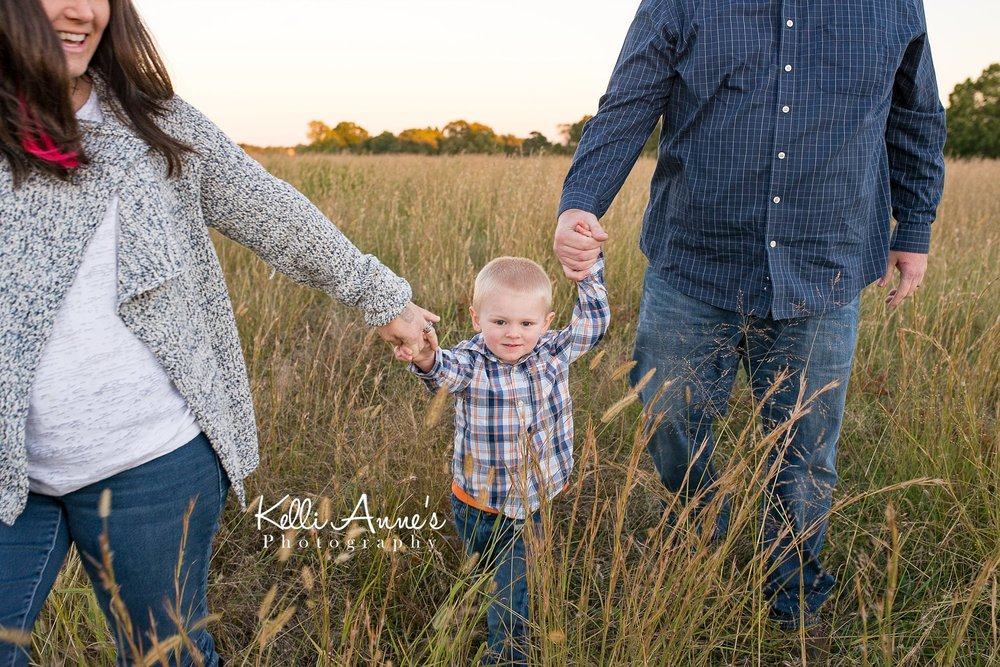 Walking, tall grass, little boy, holding hands, 3 year old, fellow lake, springfield mo