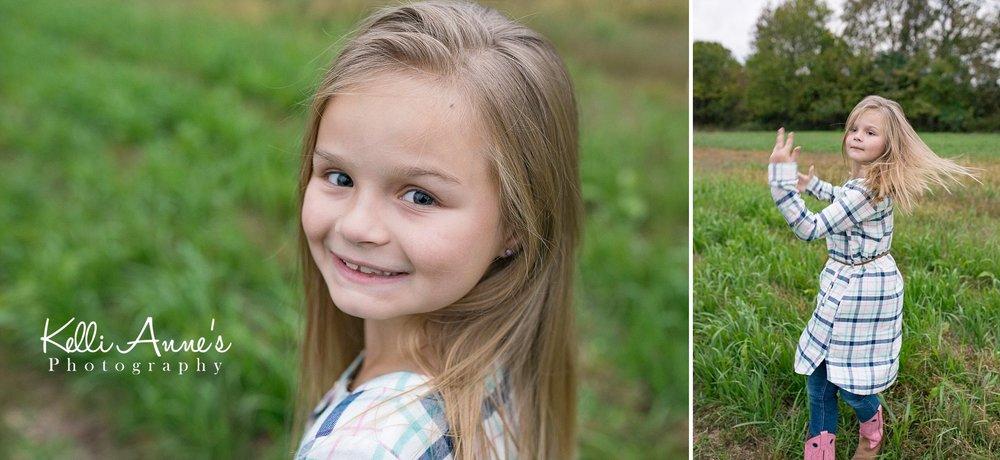 Dancing, Grass, spinning, portrait, little girl, cowboy boots, plaid dress, jeans, springfield mo