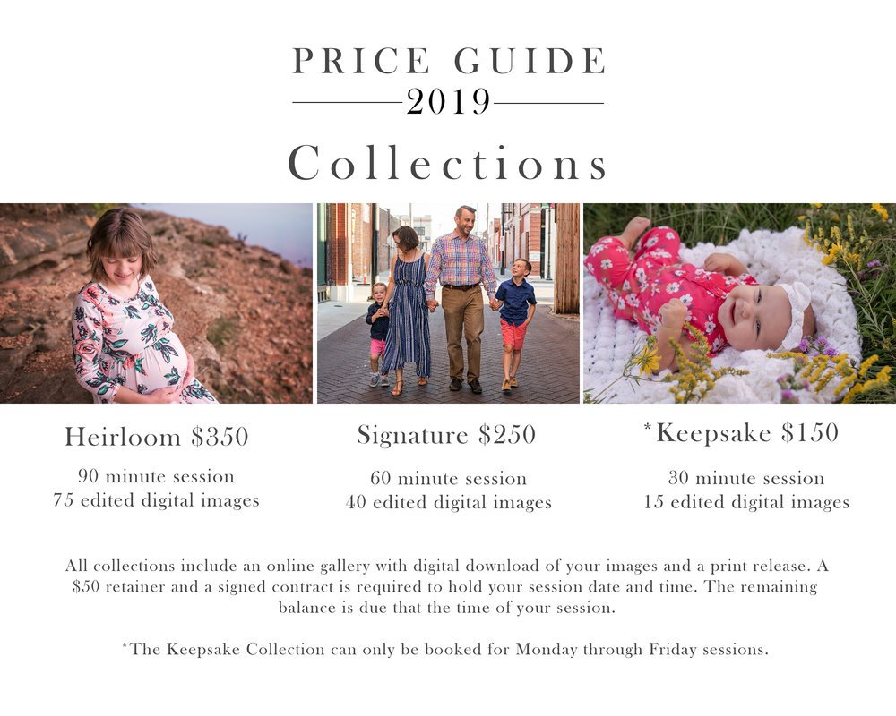 Pricing-Guide-Collection-2019-Heirloom-Signature-Keepsake-Sessions