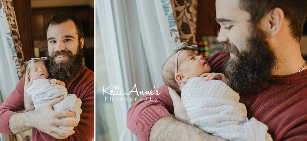 Father Daughter Newborn Lifestyle session