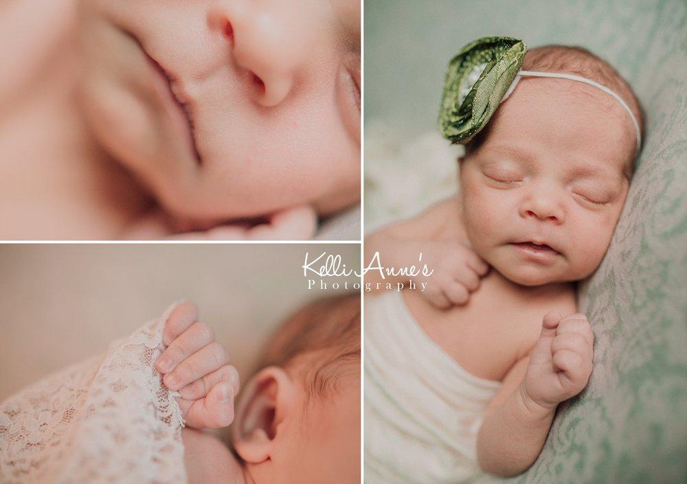 Little nose, fingers, sleeping newborn session, st louis photographer, Missouri photography, Newborn photographer, green soft skin