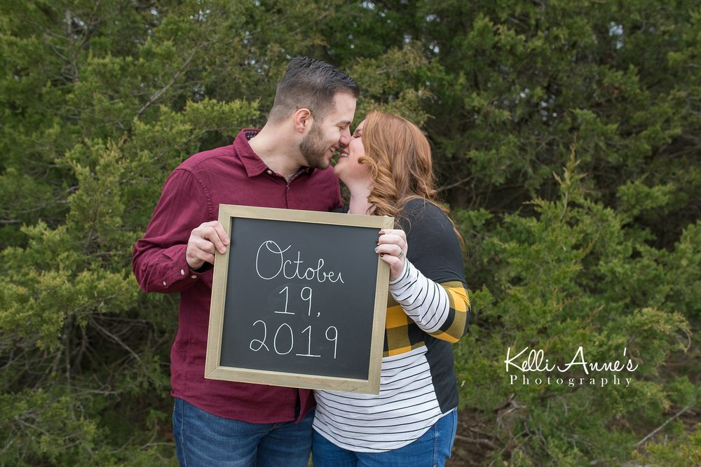 Winter engagement session fall wedding