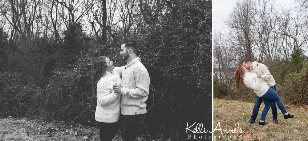 dancing engagement session in springfield mo at fellows lake