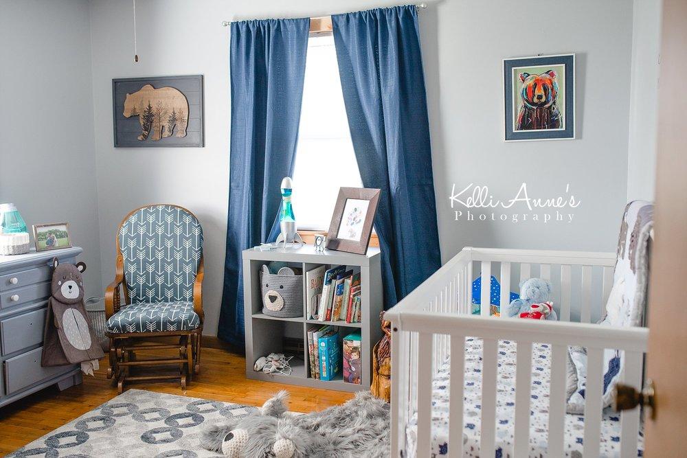 In home Lifestyle Newborn Session Nursery SW Missouri