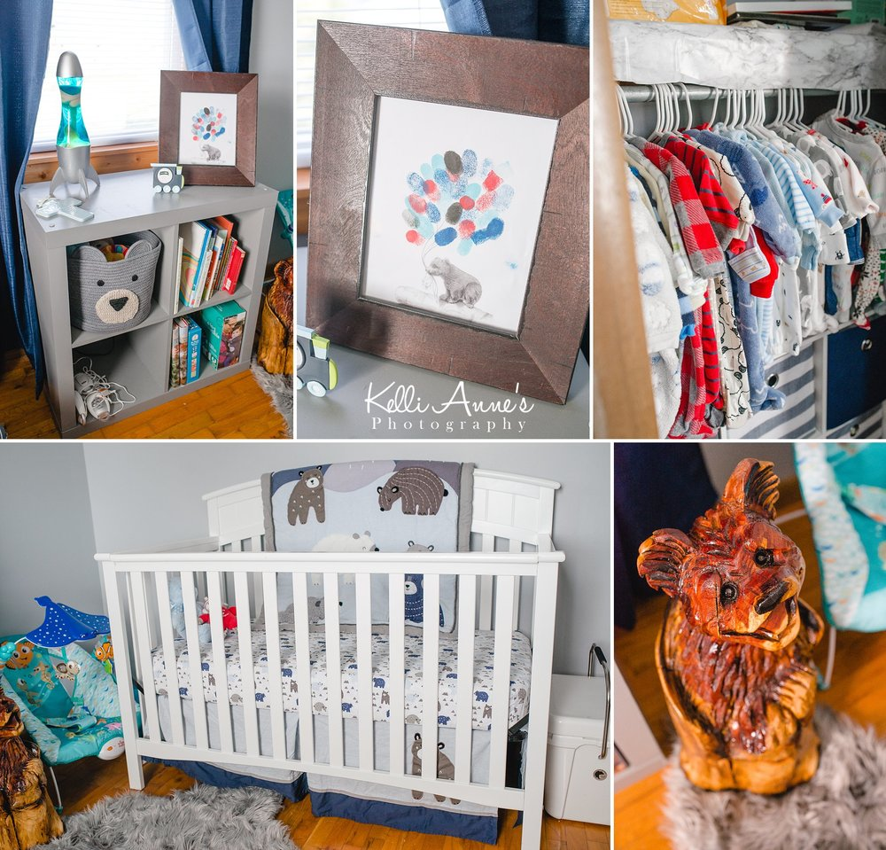 In home Lifestyle Newborn Session Nursery details