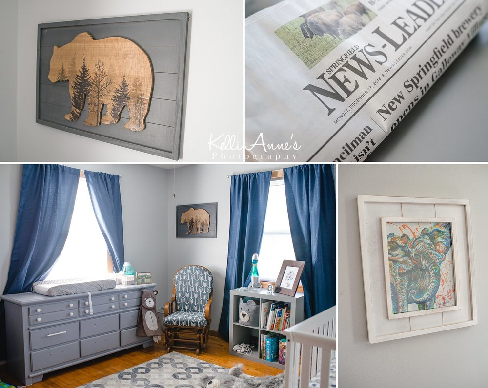 In home Lifestyle Newborn Session Nursery