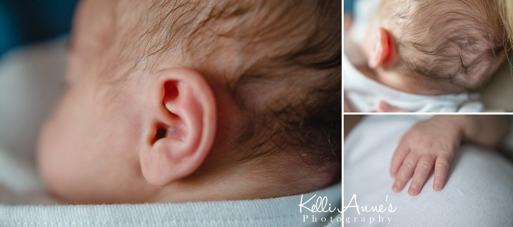 In home Lifestyle Newborn Session Nursery baby details
