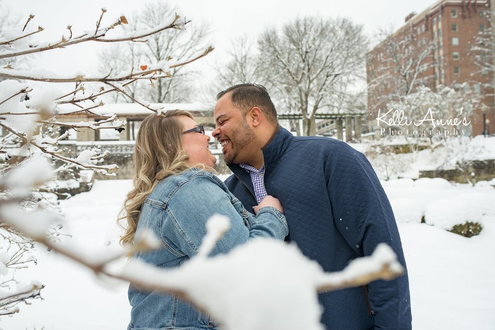Jeff City Snowy Engagement Session