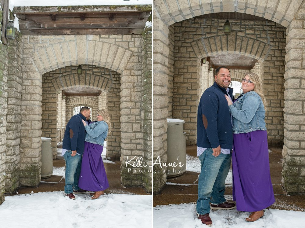 Snowy Jeff City MO Engagement Session
