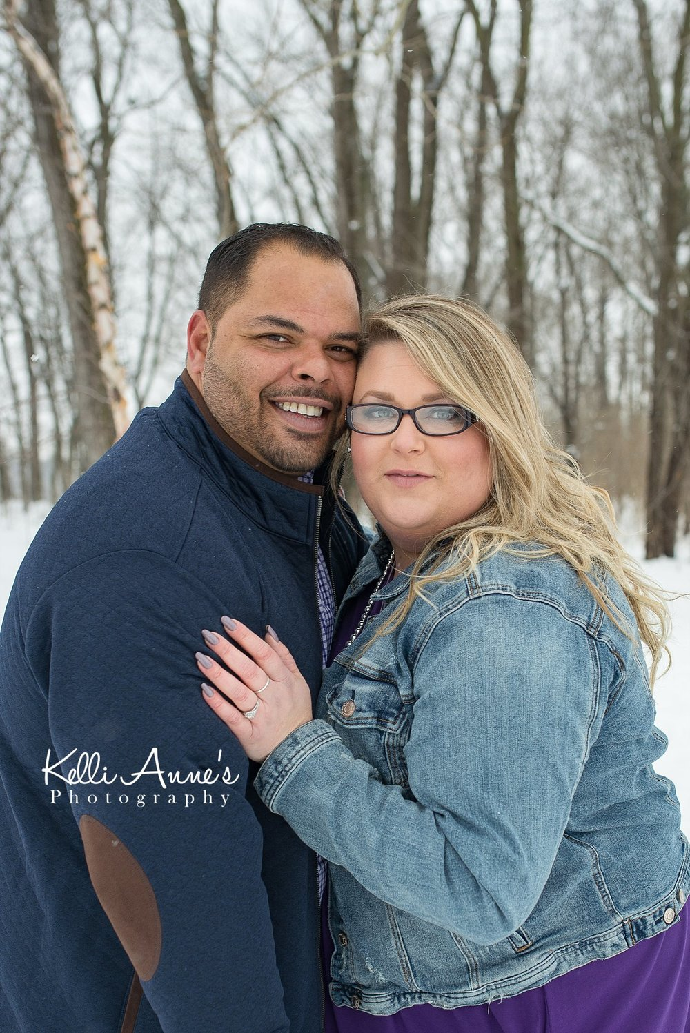 Snowy Jeff City Engagement Session