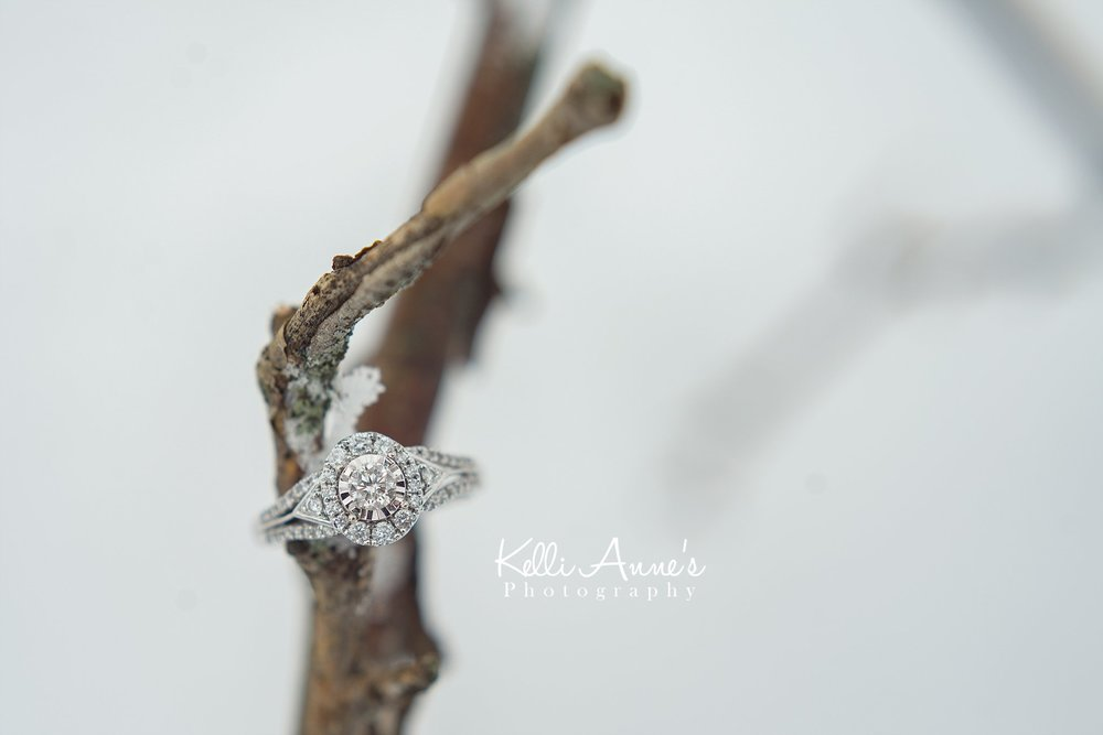 Snowy Engagement Ring