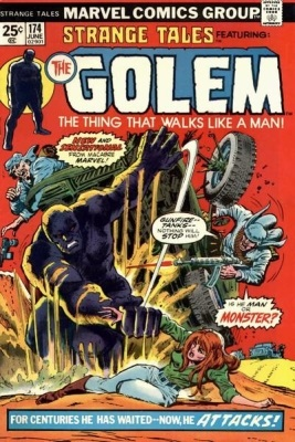 Cover of  Strange Tales Vol 1 #174  (June 1974). Cover Artists: Gil Kane, Tony DeZuniga, and John Romita. © Marvel Comics. All rights reserved. Image source: Wikipedia, released under fair use.