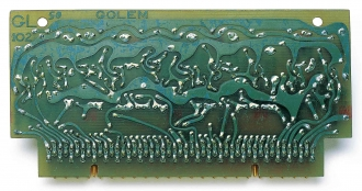 Circuit board of Golem Aleph, 1963. Courtesy of the Weizmann Institute of Science, Israel.