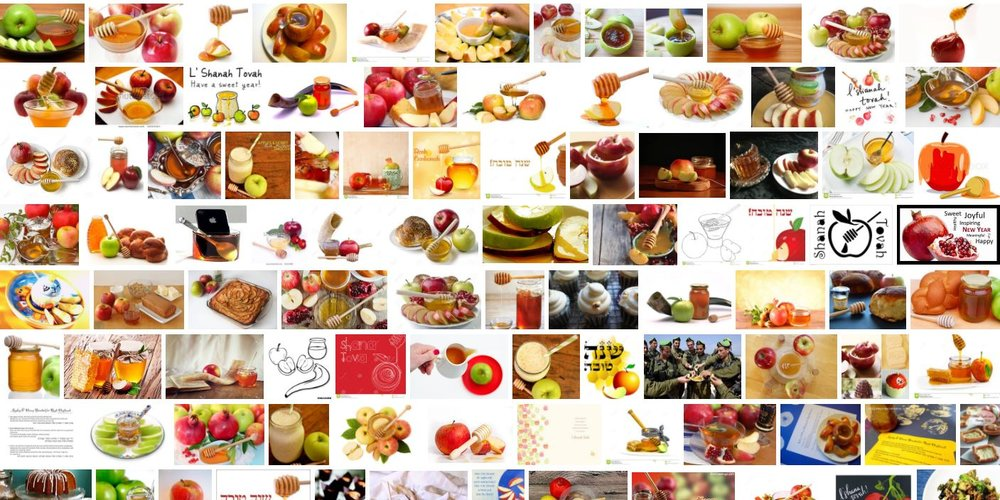 "Google image search of terms: ""apples and honey and Rosh Hashanah"""