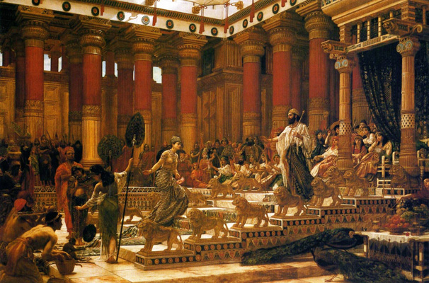 Edward Poynter,  The Visit of Queen of Sheba to King Solomon , 1890. Oil on canvas. Art Gallery of New South Wales. Image source: Wikimedia Commons, released under CC-PD-Mark.
