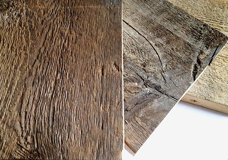 Reclaimed New England Spruce available through  Jarmak