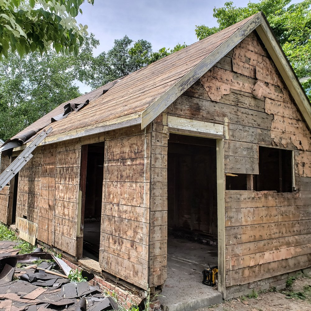 Dismantling a local barn / over-sized shed (100+ years old)