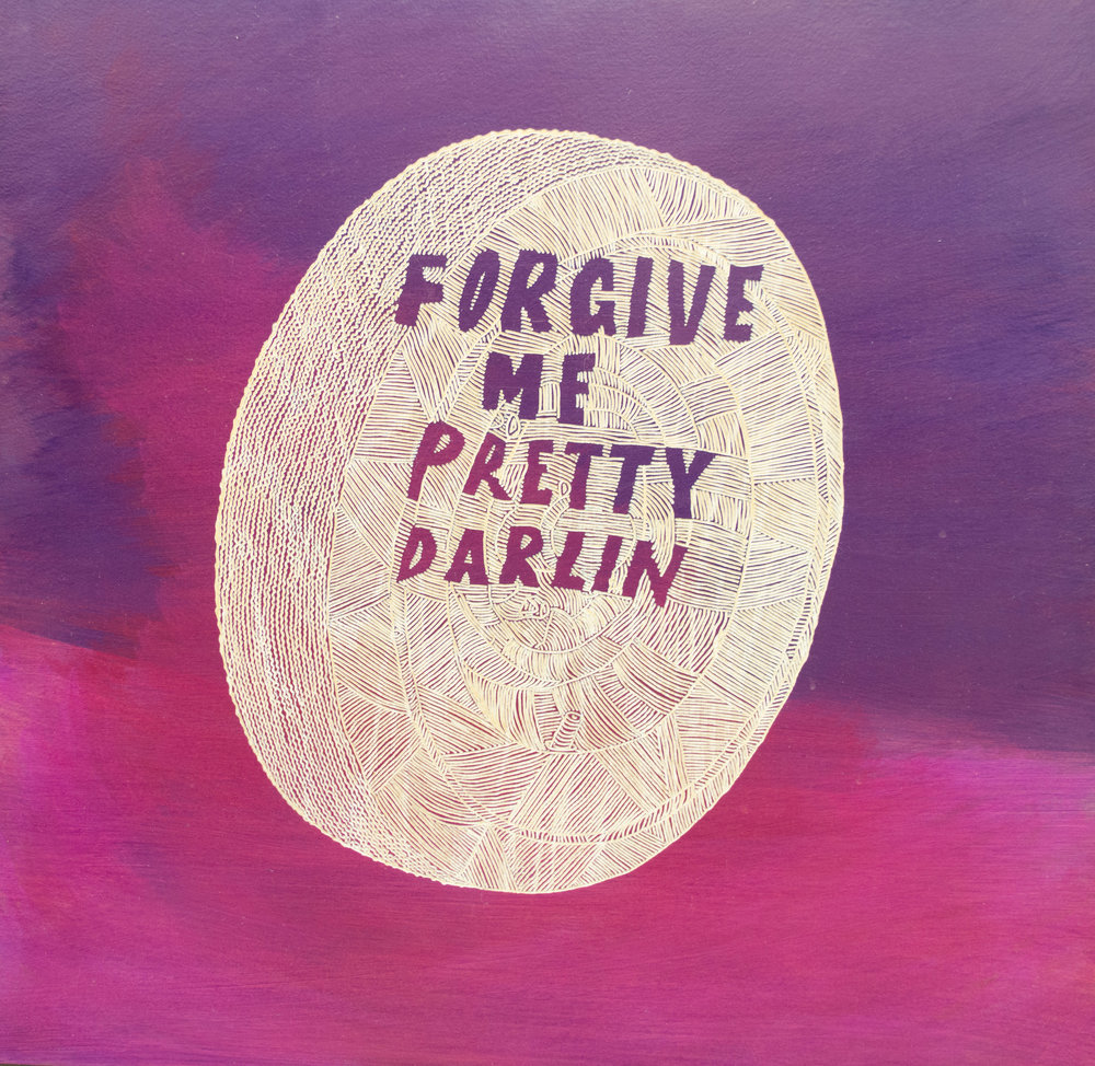 Richard Armendariz - Forgive Me Pretty Darlin', 2010, oil on carved birch, 24