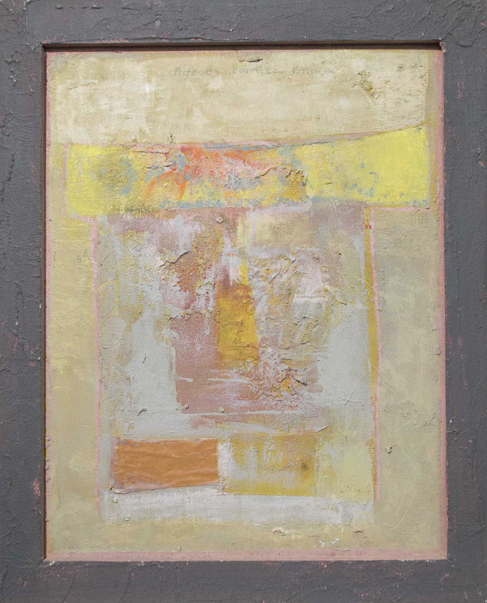 Alberto Mijangos -  1990, oil on panel and frame, 20