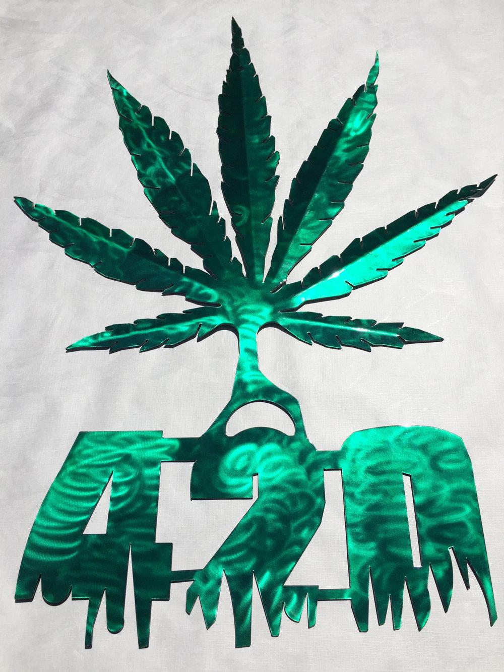 420 Marijuana Leaf
