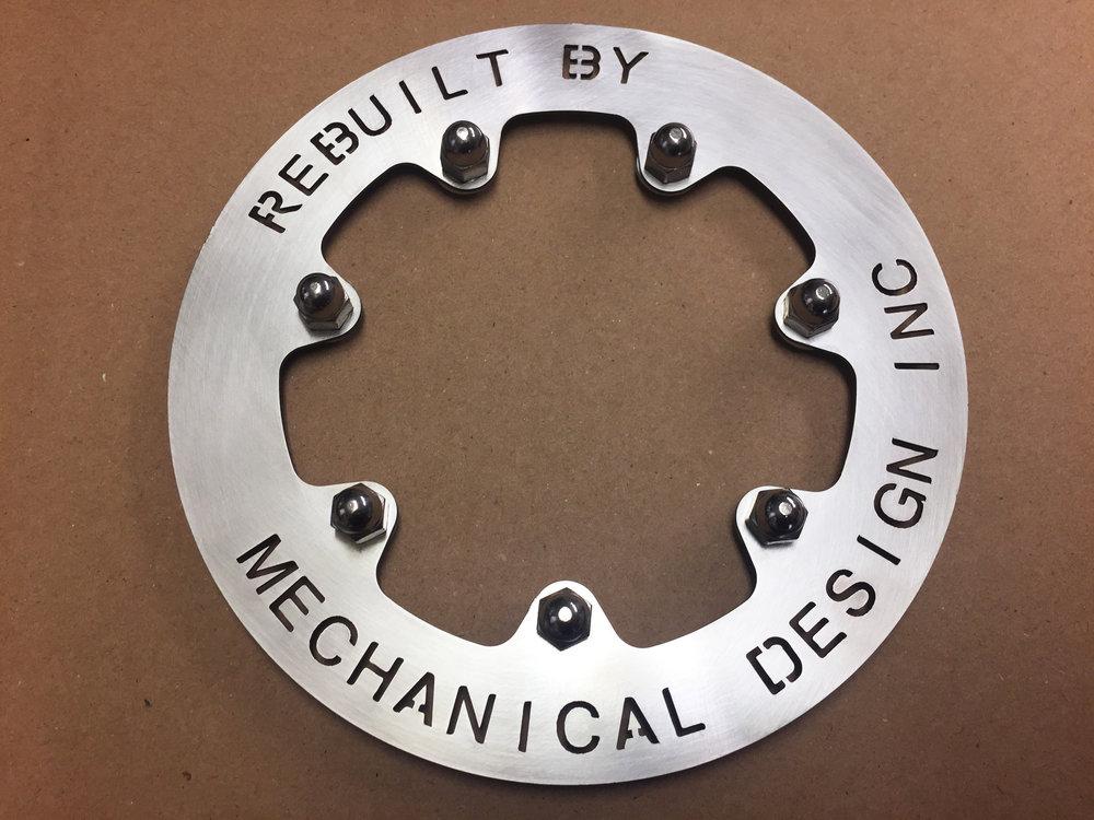 Custom grill hub caps.