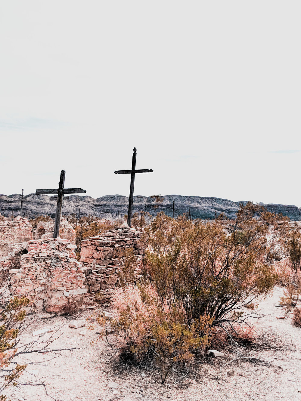 Old cemetery in Terlingua Ghost Town