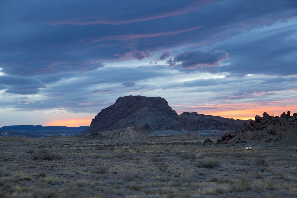 Sunset at the Indian Head petroglyphs