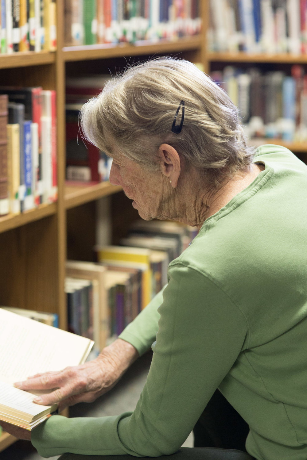 The sweet librarian at Terlingua Library
