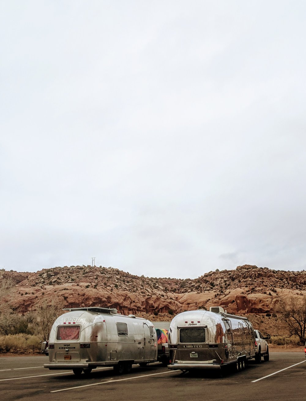 Airstream slumber party @ Hole in the Rock, UT