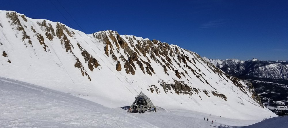 Lone Peak Tram which takes skiers and boarders to the summit of Lone Peak (11,166 ft )