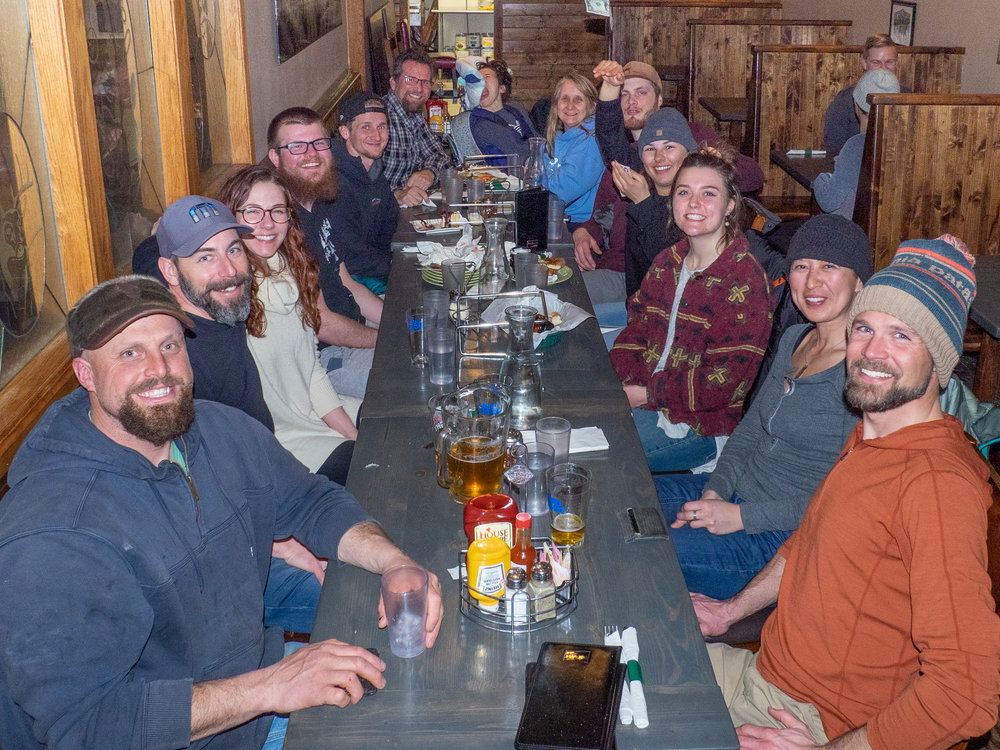 Meghan, Chris, Lisa, Steven, Garret, Morgan, Joe, Claire, Ching, Jerud & Keith @ O'Rourkes in Driggs, ID | Feb 2019