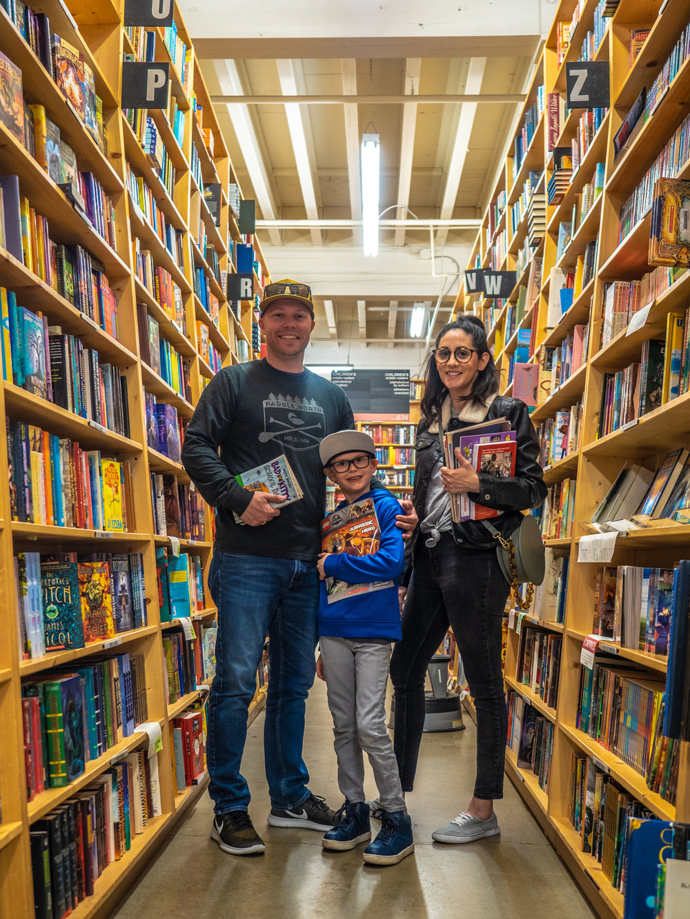 The Berthiaumes | Powells Books, Portland, OR | April 2019
