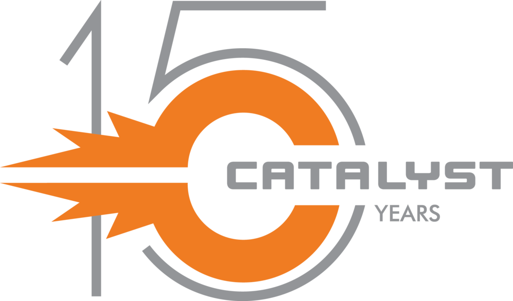 Catalyst PDG 15 years logo