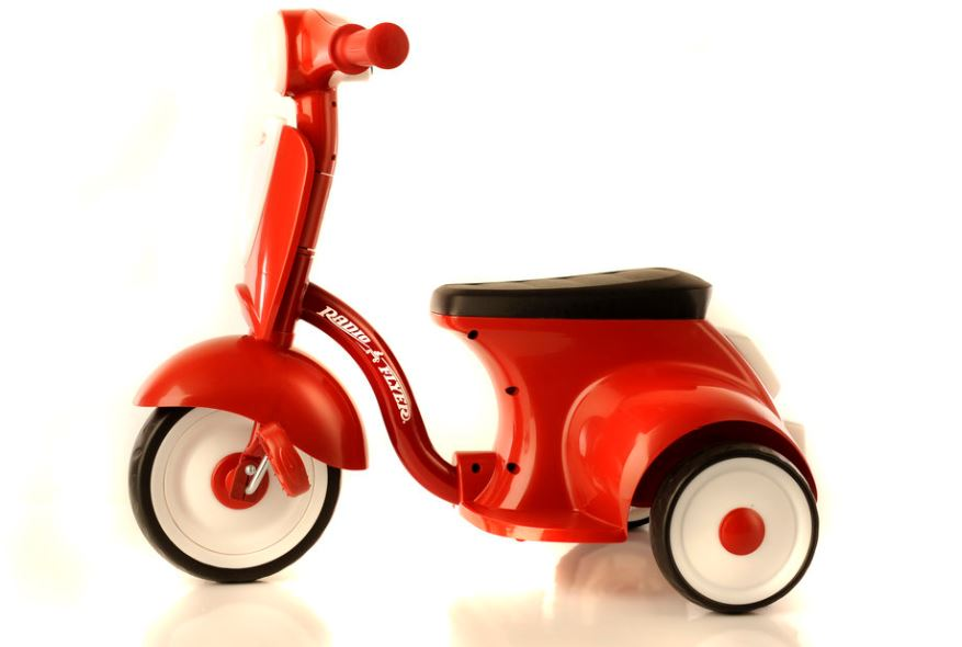 Fun design red tricycle