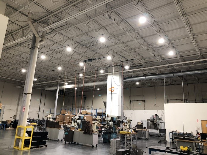 LED Lighting in Catalyst Warehouse
