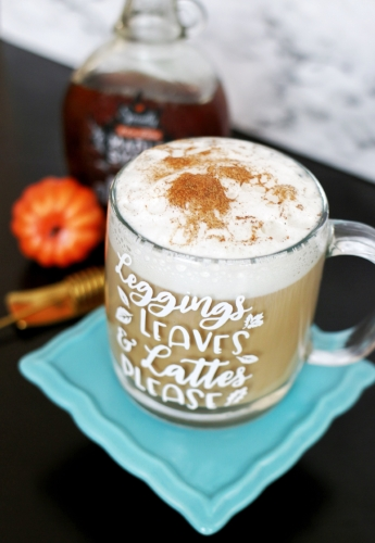 maple pumpkin spiced lattes