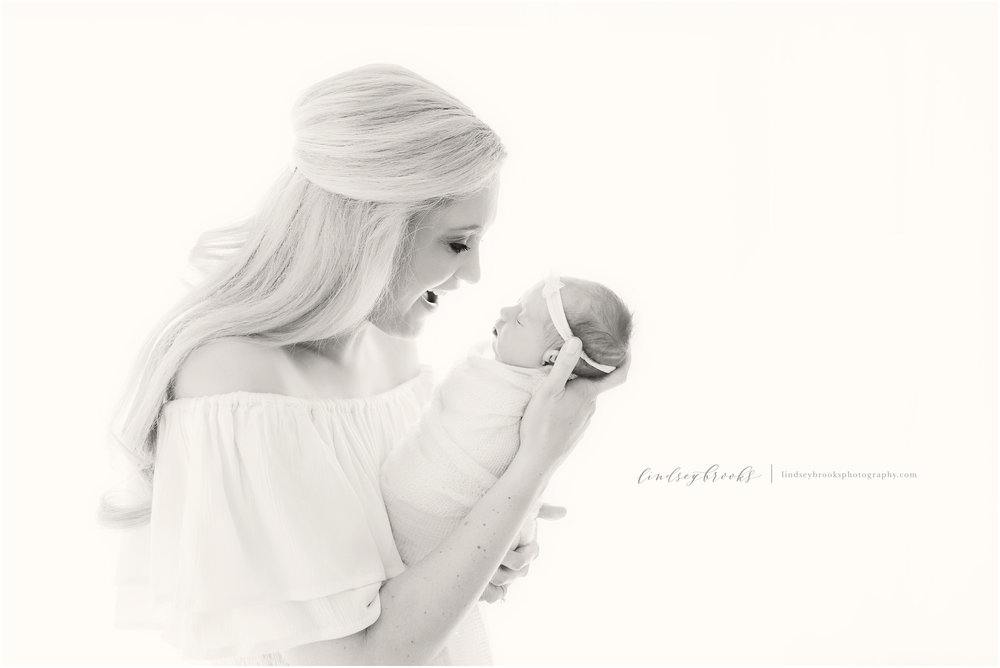 newborn photographers oklahoma black and white photo
