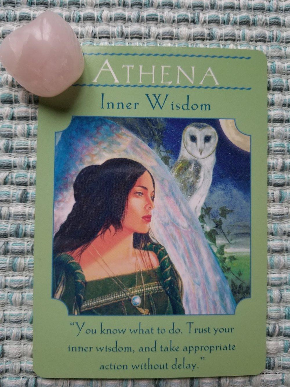 ATHENA - Inner Wisdom. Goddess Guidance Oracle by Doreen Virtue