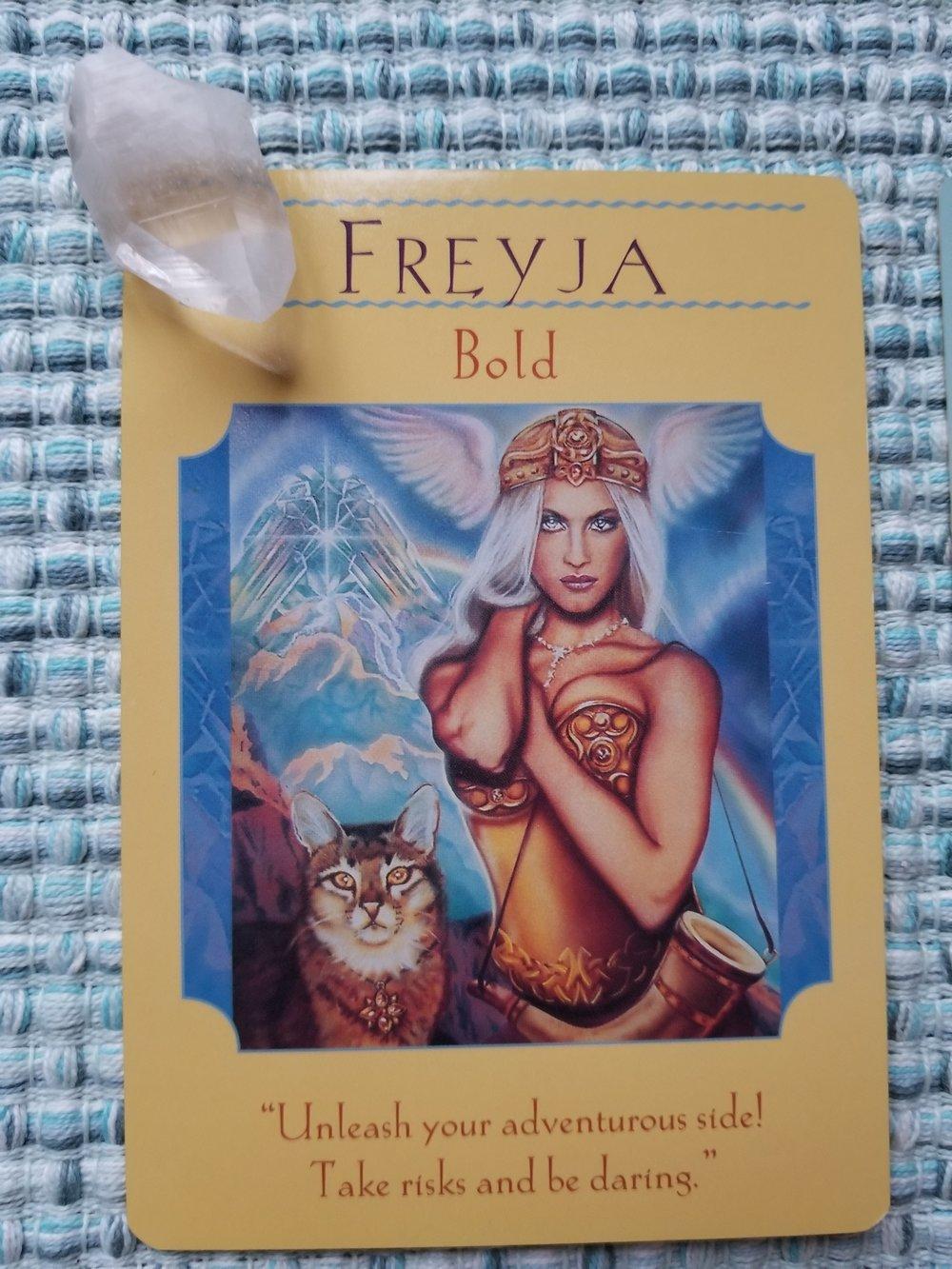 FREYJA - Bold, Goddess Guidance Oracle by Doreen Virtue