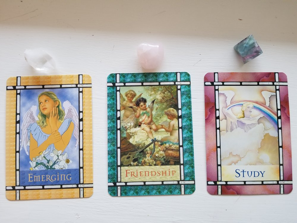 Healing with the Angels Oracle Cards, Doreen Virtue - Emerging, Friendship, Study
