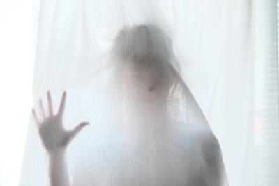 woman hiding, divine essence