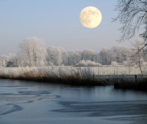 winter solstice, full moon