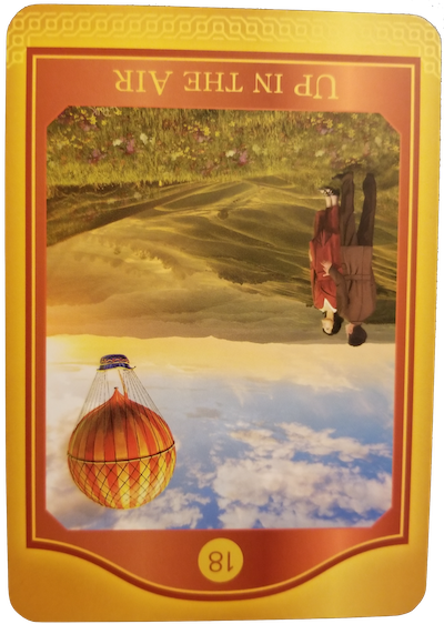 UP IN THE AIR (REVERSED) - The Akashic Tarot