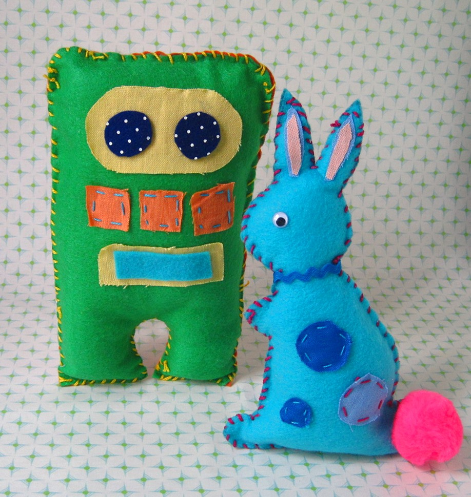 Plush Toy Design- ages 7 and up - Design  your own plush toy and bring them to life! In this class kids will learn how to use a sewing pattern along with  various hand stitching techniques to create their own unique design. Owls, cats, bears, robots...you name it and we can make it!
