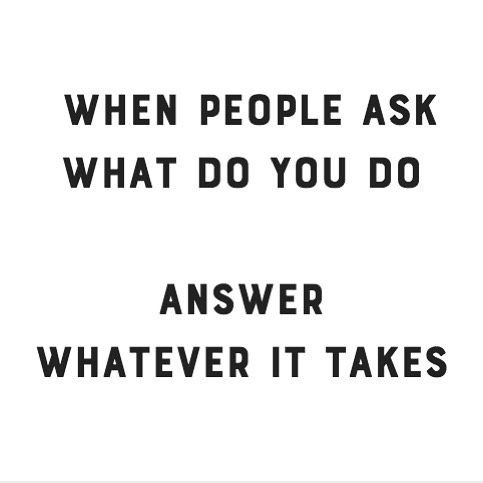 Is this your current answer? It should be! #hustle #entrepreneurlife #studiocowork