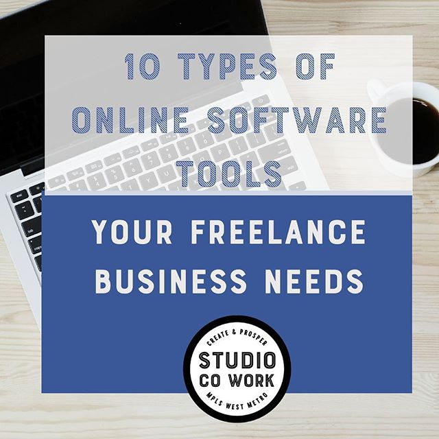 We have a new freebie download available on our website! In it we share 10 pages of online software tools you can use to get started with your freelance business working with clients! Check out www.studiocowork.com to grab it! #studiocowork #freelance #entrepreneur #onlinetools