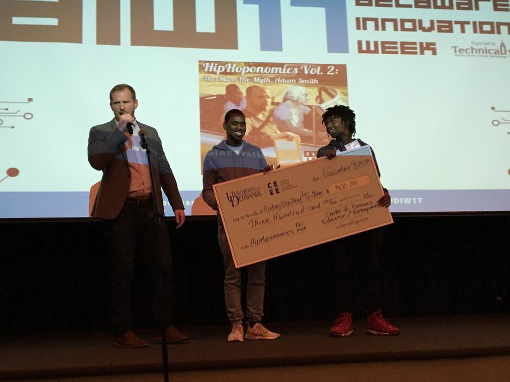 Congratulations to rodney woodland and tai jones of cab calloway school for the arts - Fall 2017 HipHoponomics Competition Winners