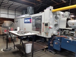 "Van Dorn 730SP-2800 Spectra  730Ton Max Part Length/Width 35"" x 32"" Max Part wt. 59oz Max Mold Width 39.4"" Max Mold Height 42.3"" Min Stack Height 17.9 Max Daylight 70.1"" Ejector Stroke 7.9"""
