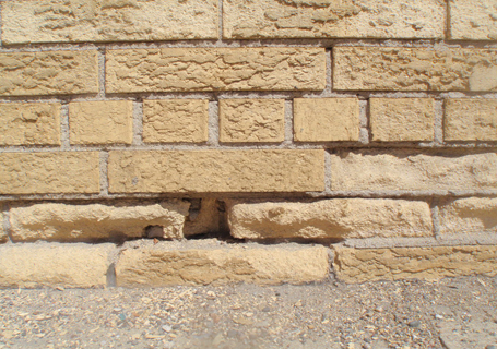 Spalling brick is very common.